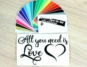 Personalised Keepsake Poem Sticker All You Need Is Love Vinyl Decal Adhesive BLA