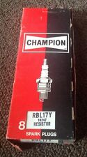 Champion RBL17Y Spark Plugs New Old Stock Set of 8 Original Retail Pack