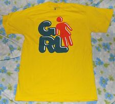 VTG 90s GIRL Skateboard Company Yellow Logo Men's T-shirt M
