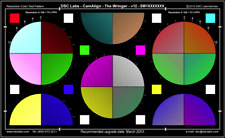 Dsc Labs CamAlign The Wringer Color Test Chart for Cinematography