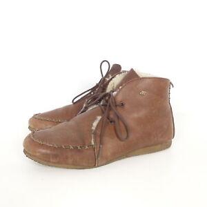 BOXFRESH Schnürschuhe DOYLIE FUR Boots Stiefelette Kunstfell Braun Gr. EUR 40