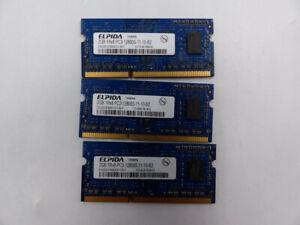 3* ELPIDA 2GB 1RX8 PC3-12800S-11-10-B2 MEMORY CARD EBJ20UF8BDU0-GN-F 1217