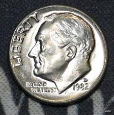 1982-D BU Roosevelt Dime Free Shipping Satisfaction Guaranteed!