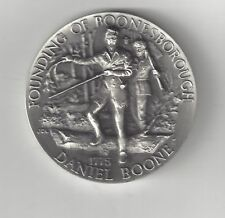 DANIEL BOONE BOONESBORO KENTUCKY LONGINES STERLING SILVER MEDAL COIN CHEROKEE