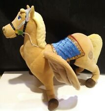 "DISNEY STORE Sofia the First SAFFRON THE PEGASUS HORSE W/ WINGS 16"" large plush"