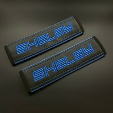 Ford Shelby Black seat belt covers Blue embroidery 2PCS