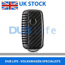 Volkswagen Golf Polo Jetta Passat Carbon Fibre Clip On Key Cover Case VW