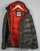 HELLY HANSEN Men's SMALL Storm Hood Goose Down Puffer Parka Jacket 21110-JS