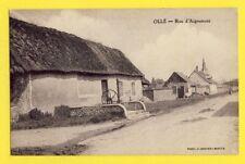 cpa Très RARE 28 - OLLÉ (Eure et Loir) Rue d'AIGREMONT Puits Pompe à Eau