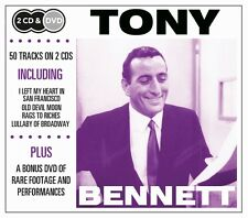 2 CD BOX plus DVD TONY BENNETT I LEFT MY HEART OLD DEVIL MOON RAGS TO RICHES ETC