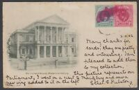 South Africa - Natal 1902 postcard (Parliament House) to Australia w/ Durban cnl