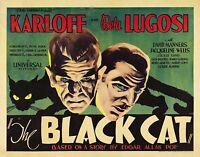 Murale Estampe - Vintage Film Affiche - The Black Chat - A4,A3,A2,A1