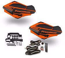 Powermadd Sentinel LED Handguards Guards Orange Black Mount Ski Doo Snowmobile