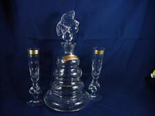 Nachtmann Lead Crystal CHERRY Liqueur Decanter Stopper and 2 Matching Glasses EC
