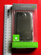 BARELY THERE HTC CHACHA METALLIC SILVER CASE-MATE PROTECTIVE BACK COVER CM014034