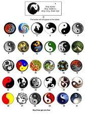 Personalized Yin Yang Return Address labels Buy 3 get 1 free (Y1)