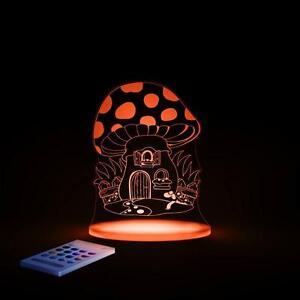 Aloka Sleepy Lights Toadstool Multi-Coloured LED Night Light With Remote Control