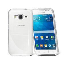 Pour Samsung Galaxy Core Prime G360 Coque Etui Gel Silicone  Lisse Transparent
