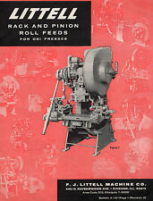 ORIGINAL LITTELL RACK AND PINION ROLL FEEDS FOR OBI PRESSES BULLETIN A-12