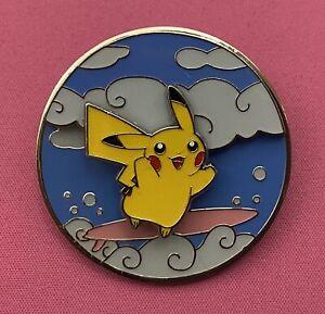 Pokemon Celebrations 25th Anniversary Flying & Surfing Pikachu Pin Badge