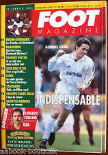 FOOT Magazine du 12/01/1994; Georges Grün/ Lorenzo Staelens/ Thierry Pister