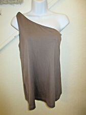 Miss Sixty Collection One Sleeve Top Tank Sleeveless Taupe SZ L NWOT