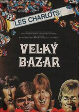 Les CHARLOTS Le GRAND BAZAR BIG STORE Czech A3 movie poster 1973