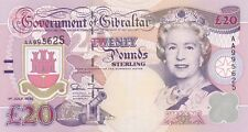 P27a GIBRALTAR 1995 TWENTY POUNDS BANKNOTE IN MINT CONDITION