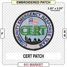 CERT Patch Community Emergency Response Team FEMA United States US EMT EMS  F 86