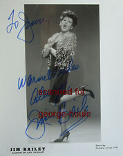 JIM BAILEY - 8X10 - FEMALE IMPERSONATOR - JUDY GARLAND - INSCRIBED - 1991