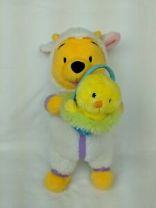 "Fisher Price Disney Winnie The Pooh Easter Pal Pooh 2003 11"" Plush Stuffed Toy"