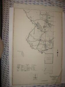 HUGE ANTIQUE 1955 SUMTER COUNTY BUSHNELL THE VILLAGES FLORIDA MAP HIGHWAY ROAD
