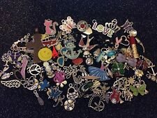 ~ 75 PiEcE LoT ~ MiXeD ThEMe EnAmEL SiLvER GoLd ChArMs PeNdAnTs