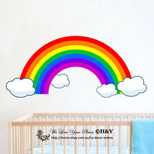 Rainbow Clouds Wall Sticker Kids Nursery Baby Decor Vinyl Decal Art Mural Gift