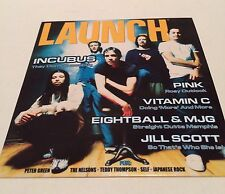 *~Launch*~CD -ROM*~ Incubus*~Vitamin C*~Jill Scott*~2000*~Sampler*~Pink*~