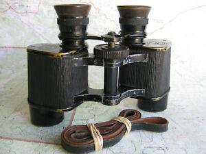 Rare 1922 Bausch & Lomb  6x25 Prism Stereo binoculars USA made