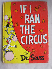 Old Book If I Ran The Circus Dr. Seuss Dated 1956 GC