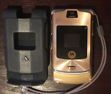 Vintage Motorola Mobile Phone razr V3i Dolce & Gabbana With Custom Vaja Case