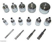 NEW 15-PC DIAMOND HOLE SAW SET – cut holes in tile, glass, marble, and granite