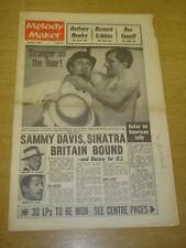 MELODY MAKER 1962 AUGUST 11 ACKER BILK SAMMY DAVIS FRANK SINATRA ED SULLIVAN +