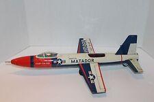 Seldom Seen Nice Tin Bandai Friction Powered USAF Martin Marauder Jet Fighter