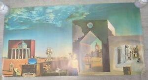 Vintage 1972 Athena Poster, Salvador Dali - Suburbs of a Paranoiac-Critical Town