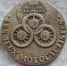 MED7108 - MEDAILLE LES JEUX MOTOCYCLISTES 1982 LE MANS FFM