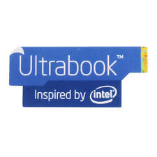 5 x Intel Ultrabook Sticker - Aufkleber blau