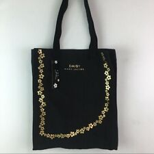 Marc Jacobs Daisy Fragrance Canvas Tote Bag Authentic Floral Black & Gold