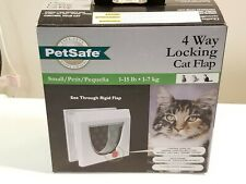 PetSafe Small White Plastic Pet Cat Flap 4 way lock - 1-15lb