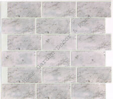 Peel Stick Wall Tile Kitchen Bathroom Backsplash Natural Gray Stone Slate Marble