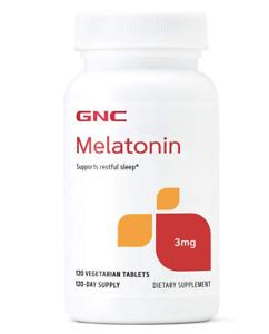 GNC Melatonin 3 mg 120 Tablets Brand New Bulk Discount