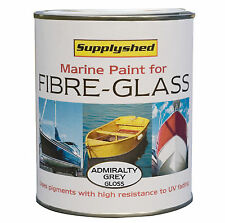 SUPPLYSHED Marine Boat Gloss LT ADMIRALTY GREY Paint for Fibreglass & GRP 750ml