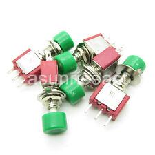 50 x Mini Momentary Click Green Knob Push Button Switch SPDT NO-COM-NC Wholesale